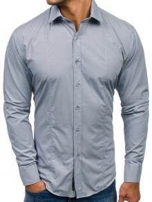 Нов модел мъжка риза Сива 2019
