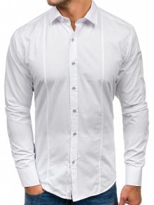 Нов модел мъжка риза Бяла 2018