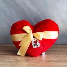 Сърце с бежова панделка