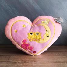 Розово сърце с мечета и луна