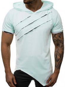 Издължена тениска с качулка Рио