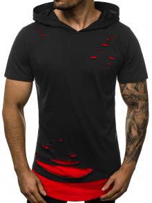 """Мъжка тениска с качулка """"Berserk"""" - Черно и червено"""