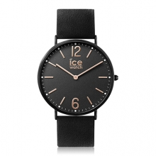 Черен Мъжки Часовник С Кожена Каишка Ice-Watch