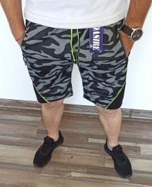 Мъжки камуфлажни шорти ''Fun'' - черни