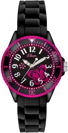 Дамски Стилен Часовник S.Oliver Black and Pink