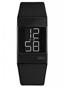 s.Oliver Time дамски цифров часовник с кожена каишка SO-3365-LD