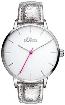 s.Oliver SO-3462-LQ Дамски аналогов кварцов часовник с PU каишка