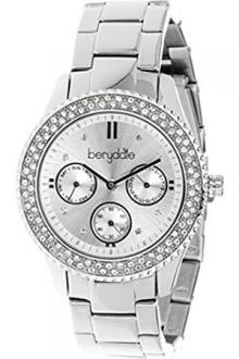 Дамски часовник Berydale BD 701-2 Кварцов хронограф Гривна от неръждаема стомана
