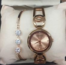 Дамски часовник REBIRTH в комплект с бижу подарък